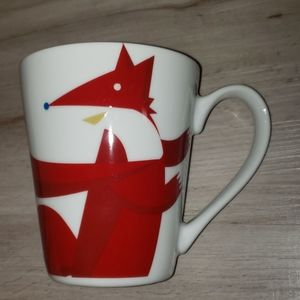 Starbucks 2012 Fox and Bird Holiday Tapered Mug